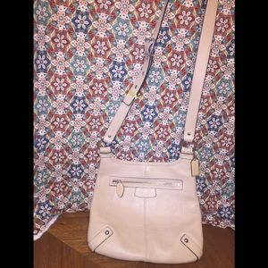 Coach Beige Pebbled Leather Crossbody Bag $FIRM$